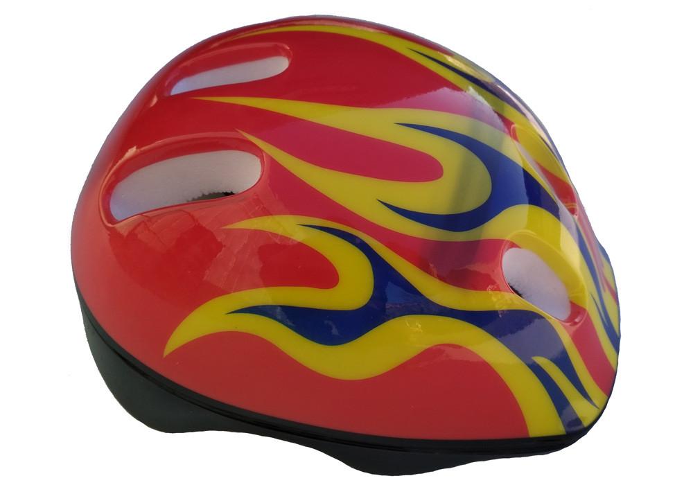 """Шлем детский DN-45-68 """"Пламя"""" красный"""