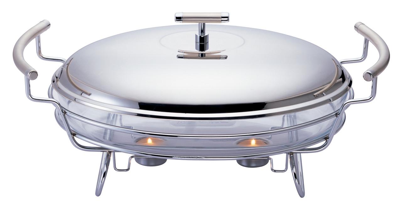 Марміт скляний Con Brio CB-209 з кришкою з нержавіючої сталі 3 л