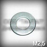 Шайба 2,5 ГОСТ 11371-78 (DIN 125,ISO 7089,7090) оцинкованная плоская