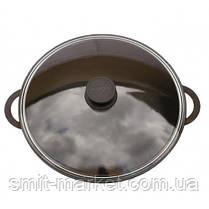 Сковорода алюмінієва WOK Біол з кришкою 32 см (3203ПС), фото 2