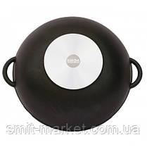 Сковорода алюмінієва WOK Біол з кришкою 32 см (3203ПС), фото 3