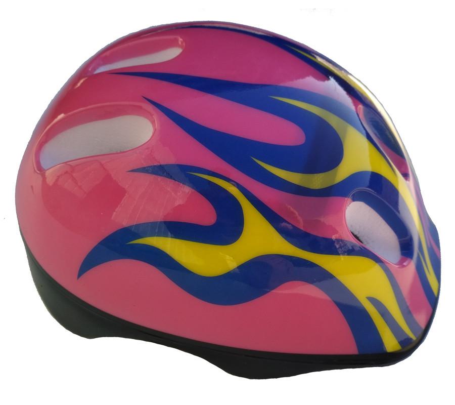"""Шлем детский DN-45-68 """"Пламя"""" розовый"""