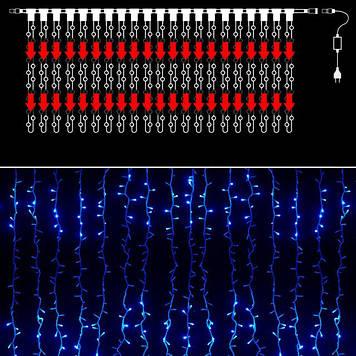 Гирлянда уличная водопад 576 светодиодов, синяя