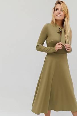 (XS, S, M, L) Вишукане фісташкове плаття-міді Sival