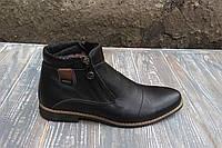 Остання пара - 41 розмір! Зимові шкіряні черевики в класичному стилі 30f56356d473a