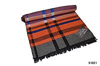 Теплый оранжевый мужской кашемировый шарф на осень