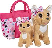 Ігровий набір CCL Собачки Чихуахуа Щаслива сім'я з сумочкою, 20 см і 14 см, 5+, фото 1