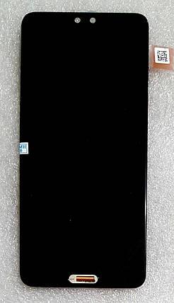Модуль (сенсор+дисплей) для Huawei P20 (EML-L29/EML-L09) чорний, фото 2