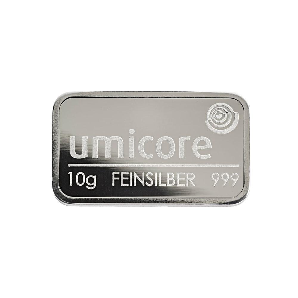 Слиток серебра 10 грамм Umicore