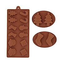 Форма  для шоколада Новогодняя, фото 1