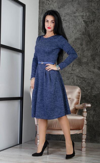 Стильное женское платье из ангоры