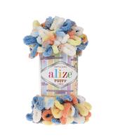 Alize Puffy Color (Ализе Пуффи Колор) № 5866 (Пряжа, нитки для вязания руками), фото 1