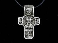 Именной нательный посеребренный крест Светлана