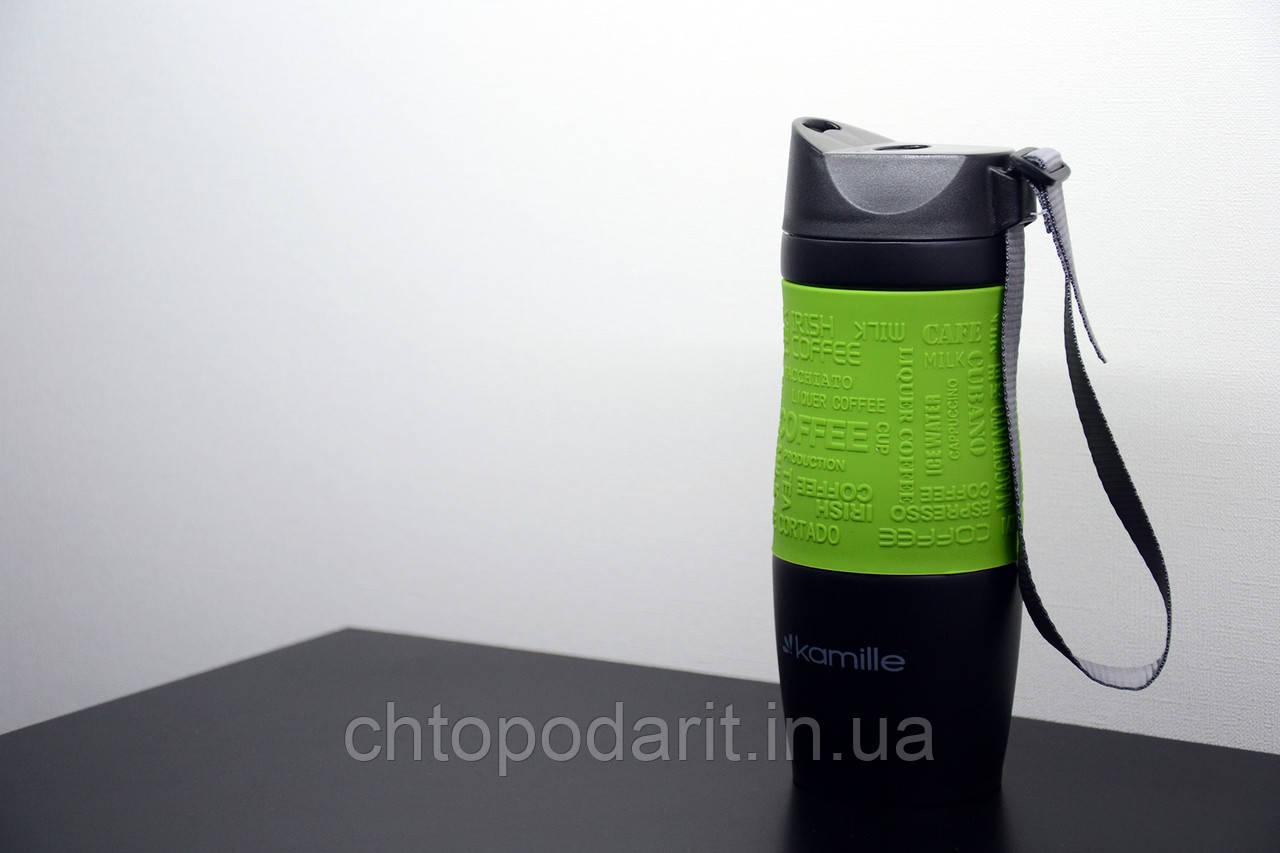 Термос Kamille 2052a 380 мл. (зеленый)