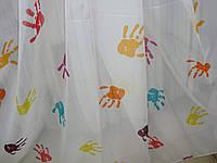 """Тюль детская """"Ладошки"""" в комнату девочки, мальчика, шифон, высота 2,9 м, фото 1"""