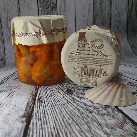 Клешни краба  (сурими), 220 грамм, Испания, стекло