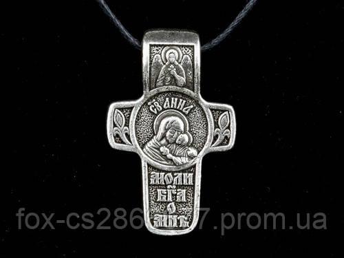 Именной нательный посеребренный крест Анна
