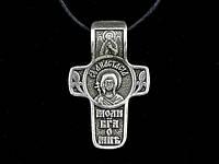 Именной нательный посеребренный крест Анастасия