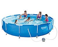 Круглый каркасный бассейн Bestway 366х76 см,+ насос 6473 л (56416)