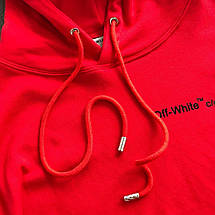 Толстовка AW18 OFF WHITE CHAMPION Кофта,Худи Red Красная, фото 2