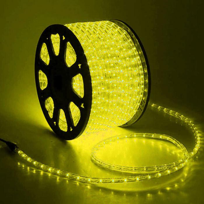 Гирлянда Дюралайт светодиодный шланг, Желтый, круглый, 100м.