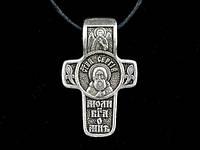 Именной нательный посеребренный крест Сергей