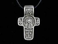 Именной нательный посеребренный крест Роман