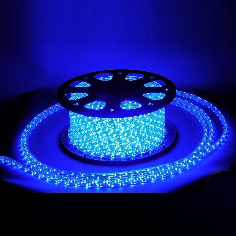 Гирлянда Дюралайт светодиодный шланг, Синий, круглый, 100м.
