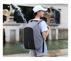 Антивор-рюкзак с USB зарядкой (серый)