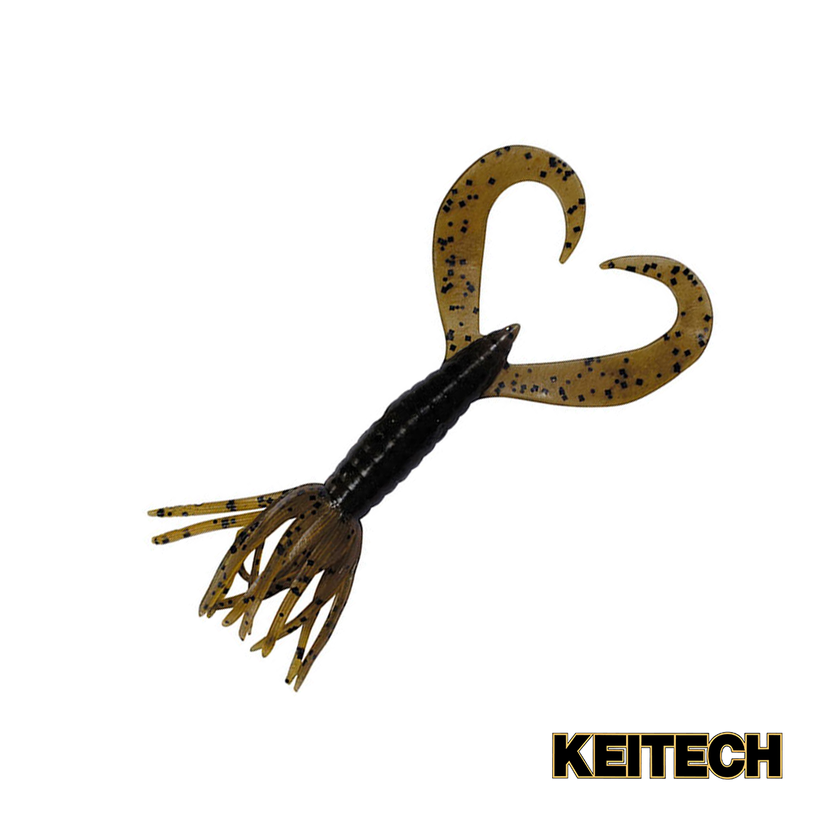 "Силикон Keitech Little Spider 2"" (8 шт/упак) ц:101 green pumpkin"