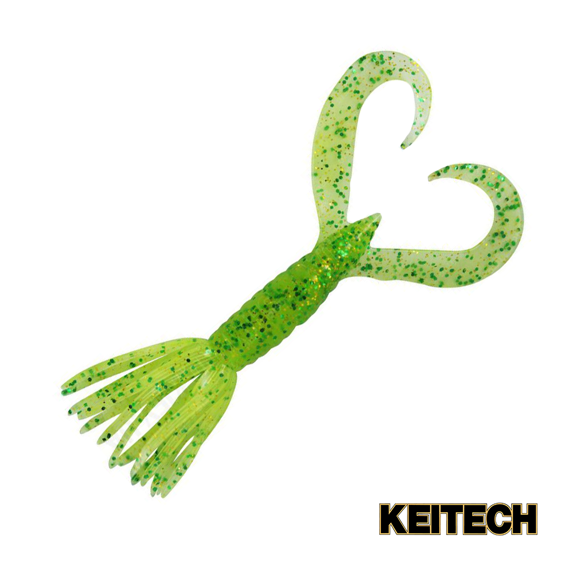 "Силикон Keitech Little Spider 2"" (8 шт/упак) ц:424 lime chartreus"