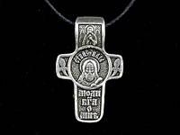 Именной нательный посеребренный крест Илья