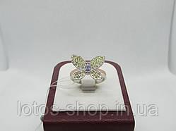 """Серебряное кольцо с золотом """"Метелик"""""""