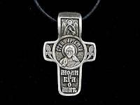 Именной нательный посеребренный крест Артем