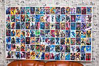 "Принт на холсте ""Герои Марвел. Marvel Comics"" 130х80 см."