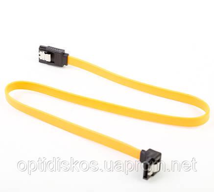 Кабель SATA (прямой)- SATA (угловой), 0,45м, оранжевый, фото 2