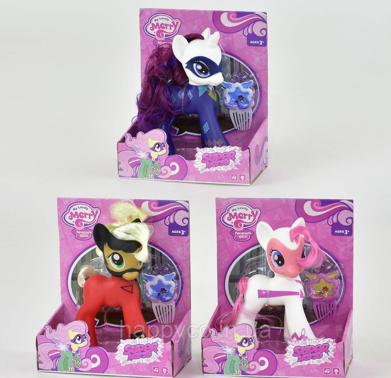 Игрушечное пони  свет, звук, «My Little Pony»  для девочек в коробке