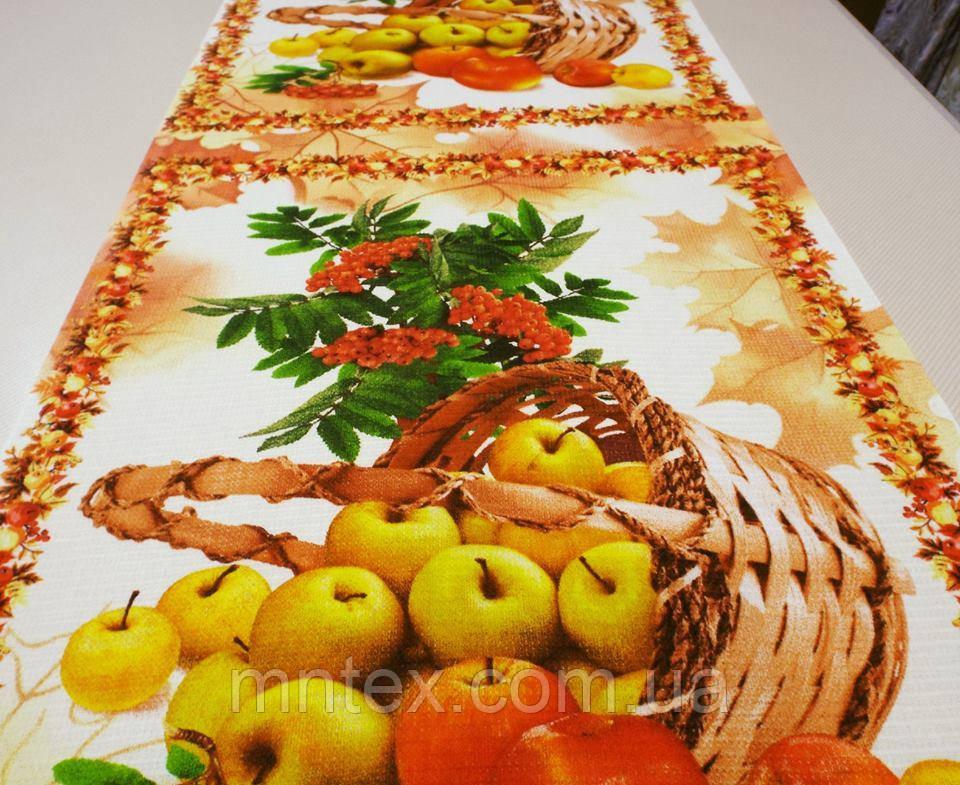 """Ткань вафельная ширина 50 см Яблочки / """"Чарівна Ніч"""""""