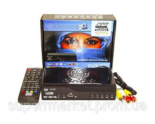 DVB-Т2 AT-787 TV тюнер Т2 4K 3D приемник для цифрового ТВ Terrestrial, фото 2