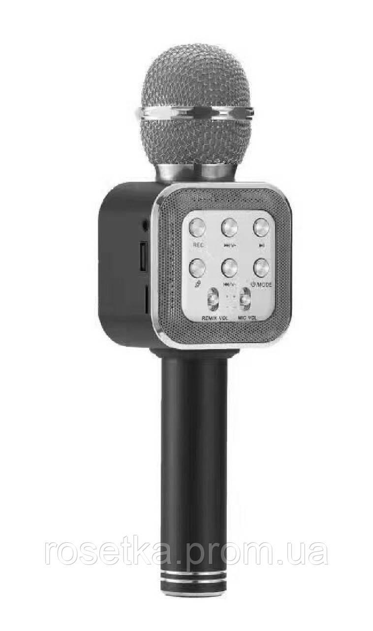 Беспроводной Караоке Микрофон с динамиком  Wster WS-1818 (USB, microSD, AUX, FM, Bluetooth)