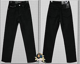 Джинсы мужские классические вельветовые утеплённые чёрного цвета LS