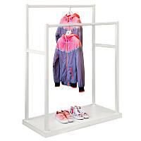 Стойка для одежды Fenster Дуэт Белый