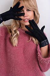 Стильные женские перчатки с косами
