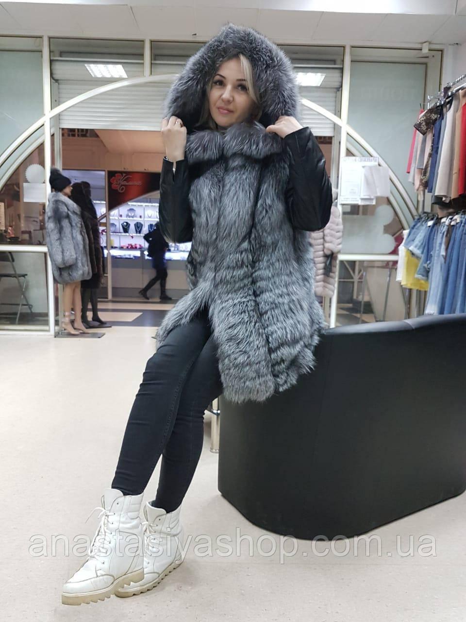 Шикарная куртка-трансформер из чернобурки