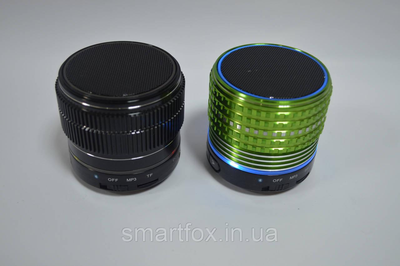 Портативная колонка Bluetooth USB Подсветка Неон Green