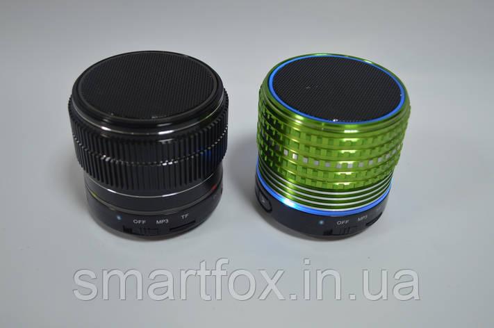 Портативная колонка Bluetooth USB Подсветка Неон Green, фото 2