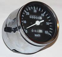 Спидометр Альфа 60 км/ч для приборов хром