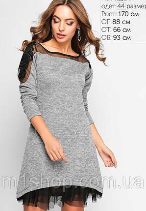 Женское трикотажное платье с сеткой (3159 lp), фото 2