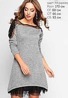 Женское трикотажное платье с сеткой (3159 lp)
