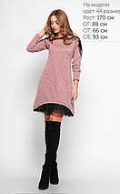Женское трикотажное платье с сеткой (3159 lp), фото 3